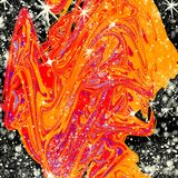 Helle Abstraktion der festlichen Stimmung des Winters Stockbilder