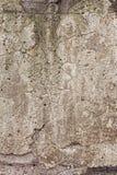 Helle alte Betonmauer mit Sprüngen Stockfotos