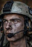 Helle Augen des jungen Soldaten Lizenzfreie Stockfotografie