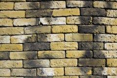 helle Backsteinmauer Stockfotografie