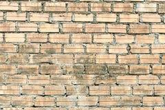 Helle Backsteinmauer Horizontaler breiter brickwall Hintergrund Beunruhigte Wand mit defekter Ziegelsteinbeschaffenheit lizenzfreie stockfotografie