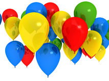 Helle Ballons über Weiß Stockbilder