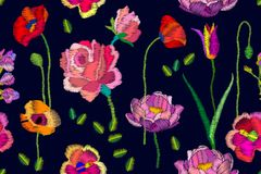 Helle blühende Blumen Stockfotografie
