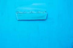 Helle blaue Farbe auf Metall Lizenzfreies Stockbild