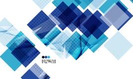 Helle blaue geometrische Schablone des modernen Designs Lizenzfreies Stockfoto