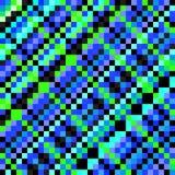Helle blaue Pixelhintergrund-Vektorillustration Lizenzfreie Stockfotos