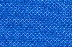 Helle blaue synthetische Textilfasern stockbild
