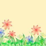 Helle Blumen der Fantasie Lizenzfreies Stockfoto