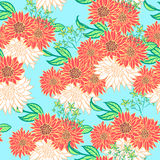 Helle Blumen des Sommers Vector nahtloses Muster Lizenzfreies Stockfoto