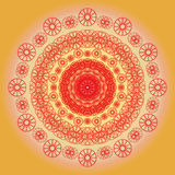 Helle Blumen-Mandala Solarbeleuchtung Stockbild