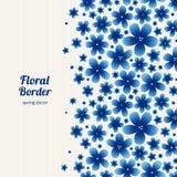 Helle Blumengrenze auf hellem Hintergrund Stockfoto