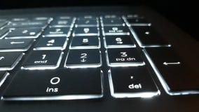 Helle Buchstaben der Tastatur numerisch lizenzfreie stockbilder