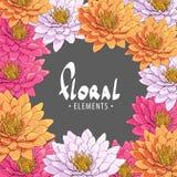 Helle Chrysanthemen auf einem dunklen Hintergrund Lizenzfreies Stockfoto