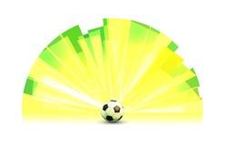 Helle Fahnen-runde Form mit Fußball Lizenzfreie Stockfotografie