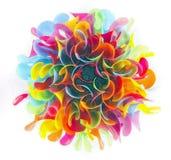 Helle Farbe der abstrakten Plastikstrohe stockfotos