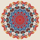 Helle Farbe Mandala Round Lace Design Lizenzfreies Stockbild