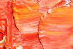 Helle Farbenanschläge gezeichnet mit Bürste lizenzfreie stockfotografie