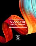 Helle Farbfarben-Flecke für modernes Plakat Tranding-Design Auch im corel abgehobenen Betrag Lizenzfreie Stockbilder