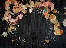 Helle farbige Abstraktion auf einem dunklen Hintergrund Lizenzfreies Stockfoto