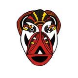 Helle farbige Gesichtsmaske für die Ritualkarikaturart Stockfoto