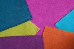 Helle farbige Gewebe des Hintergrundes Stockbild