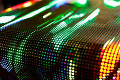 Helle farbige Grün gebogene LED-smd Wand Stockbild