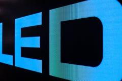 Helle farbige LED-Videowand mit Hoch sättigte Muster - clos Lizenzfreies Stockfoto