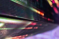 Helle farbige LED-Videowand mit Hoch sättigte Muster - clos Stockfotos