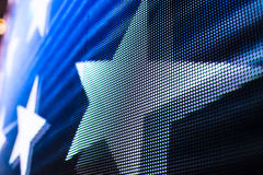 Helle farbige LED-Videowand mit Hoch sättigte Muster - clos Stockbild