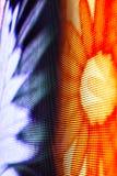 Helle farbige LED-Videowand mit Hoch sättigte Muster - clos Lizenzfreie Stockfotografie