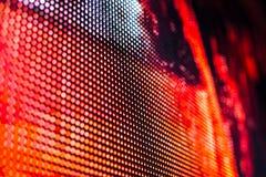 Helle farbige LED-Videowand mit Hoch sättigte Muster - clos Lizenzfreie Stockbilder
