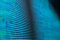 Helle farbige LED-Videowand mit Hoch sättigte Muster - clos Lizenzfreie Stockfotos