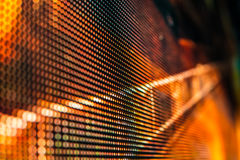 Helle farbige LED-Videowand mit Hoch sättigte Muster - clos Stockbilder