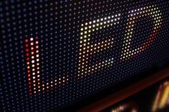 Helle farbige LED-Videowand mit Hoch sättigte Muster - clos Stockfotografie
