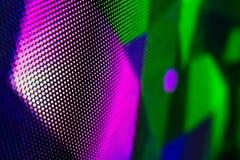 Helle farbige LED-Videowand mit Hoch sättigte Muster - clos Lizenzfreies Stockbild