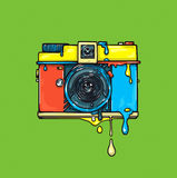 Helle Farbkamera gestaltungsarbeit Ð-¡ olor Grafikillustration Lizenzfreies Stockbild