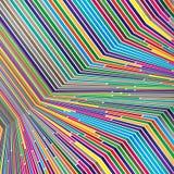 Helle Farblinien, buntes Design mit den geometrischen Formen, die abstrakten schönen Hintergrund bilden Perfekter Hintergrund für Stockfotografie