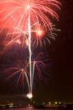 Helle Feuerwerke Stockfoto