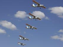 Helle Flächen bei Airshow lizenzfreies stockbild