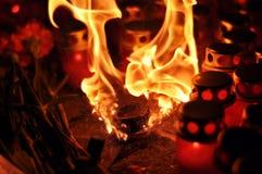 Helle Flammen Stockfoto