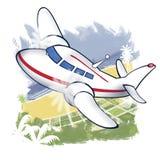 Helle Fluggastflugzeuge Stockbilder