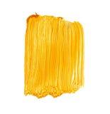 Helle gelbe Acrylbürste streicht Hintergrund Stockbilder