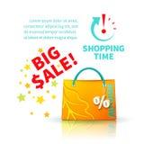 Helle gelbe Einkaufstasche stock abbildung