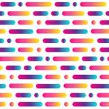 Helle gerundete Linie nahtloses Muster der Zusammenfassung Mehrfarbiger Streifen- und Kreishintergrund der Steigung Auch im corel Lizenzfreie Stockbilder