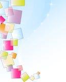 Helle glänzende lichtdurchlässige Quadrate Stockfotografie