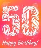 Helle Grußkarte Schablone 50 Jahre Geburtstag feiern Dekorativer Schrifttyp stock abbildung