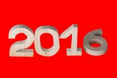 Helle hölzerne Tabellen 2016 auf Hintergrund Dekoratives Element für Lizenzfreie Stockfotos