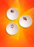 Helle Hintergrundeignungsfliegerschablonen-Abdeckungsbroschüre Lizenzfreie Stockbilder