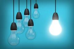 helle Ideenbirneninnovation kreativ Vektor Abbildung