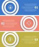 Helle infographic Vektortechnologiefahnen Stockfoto